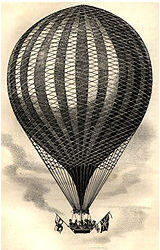 The balloon was launched from the centre of Paris and flew for a period of 20 minutes