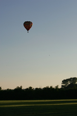 Hot air balloon at dusk