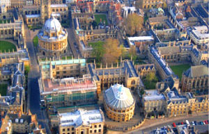 Bird's eye view of Oxford